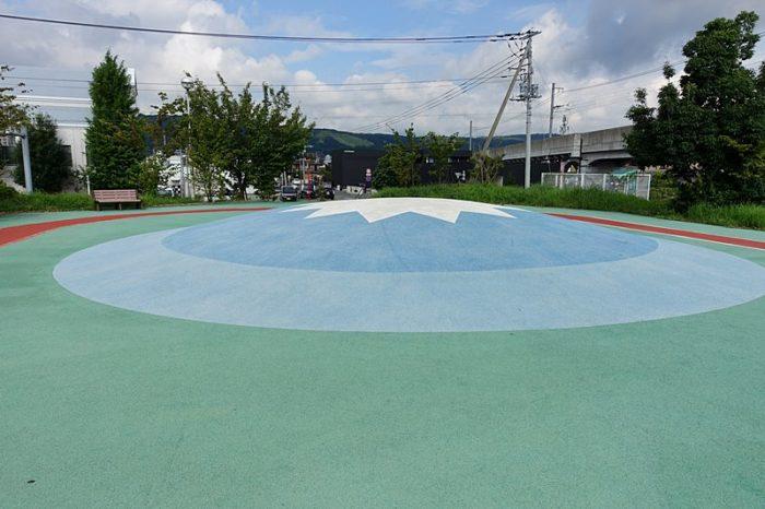 浅間町フレンドパークの「富士山の丘」