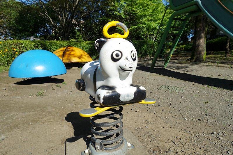 外神東公園のスプリング遊具