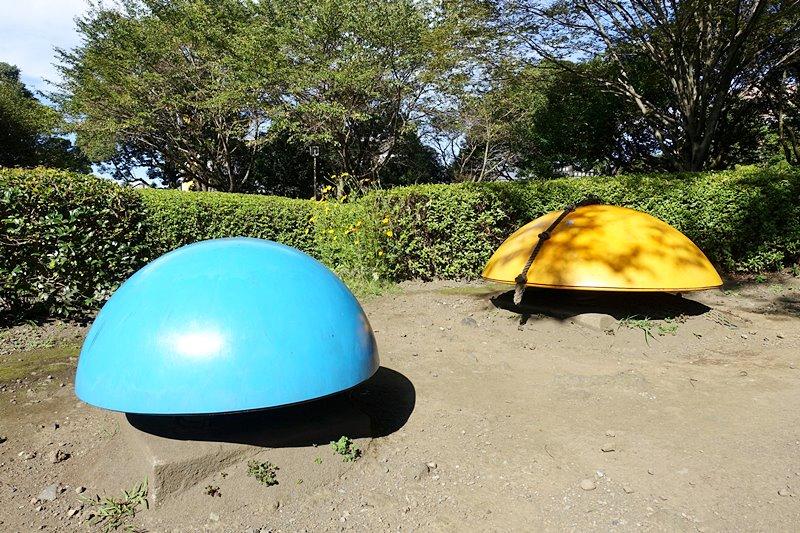 外神東公園のバランスボール