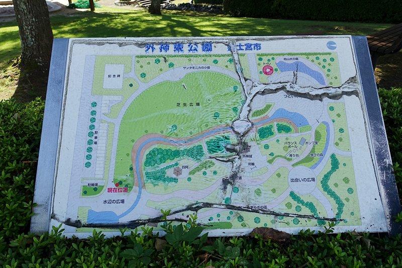 外神東公園の案内図