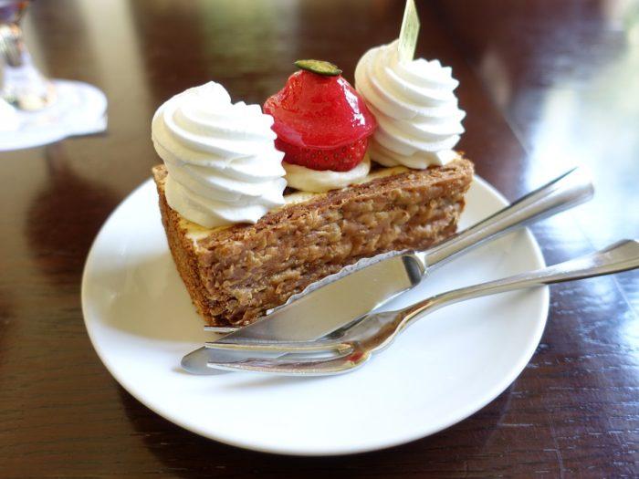 富士宮市のケーキ屋「java(ジャヴァ)」のミルフィーユ