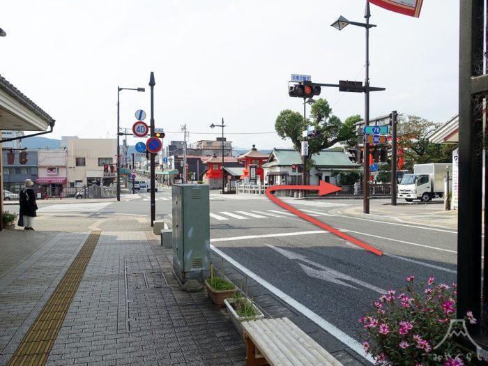 富士山本宮浅間大社の第2駐車場までの道案内