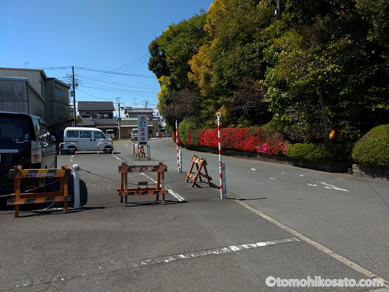 富知六所浅間神社の駐車場