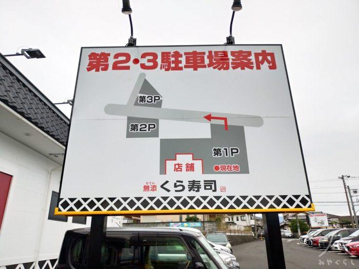 くら寿司富士宮店駐車場案内図