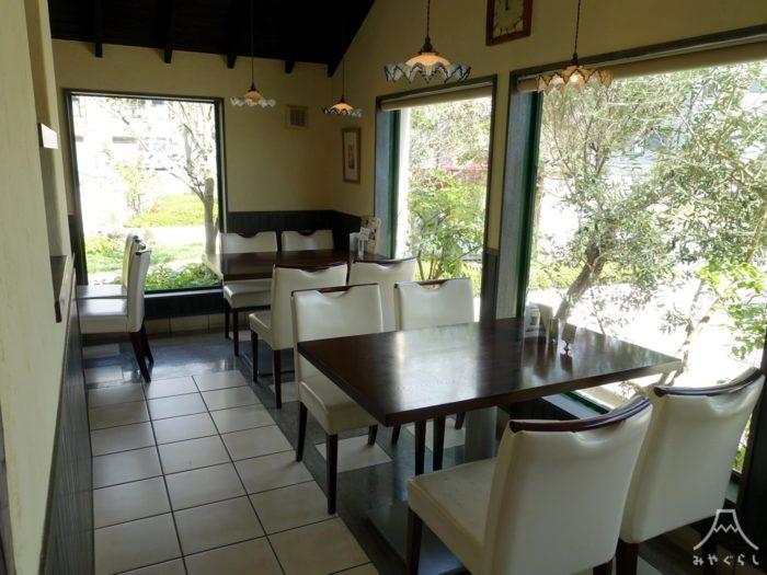 パティスリーjavaのカフェスペース