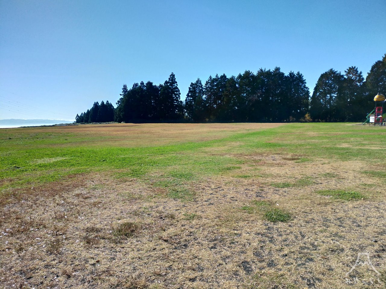 白糸自然公園の芝生広場