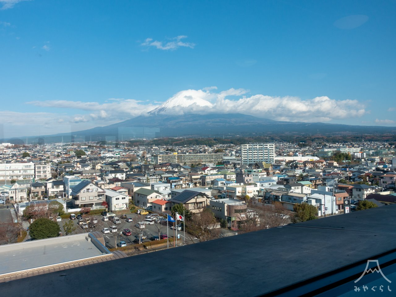 展望レストランあっぱれから見た富士山