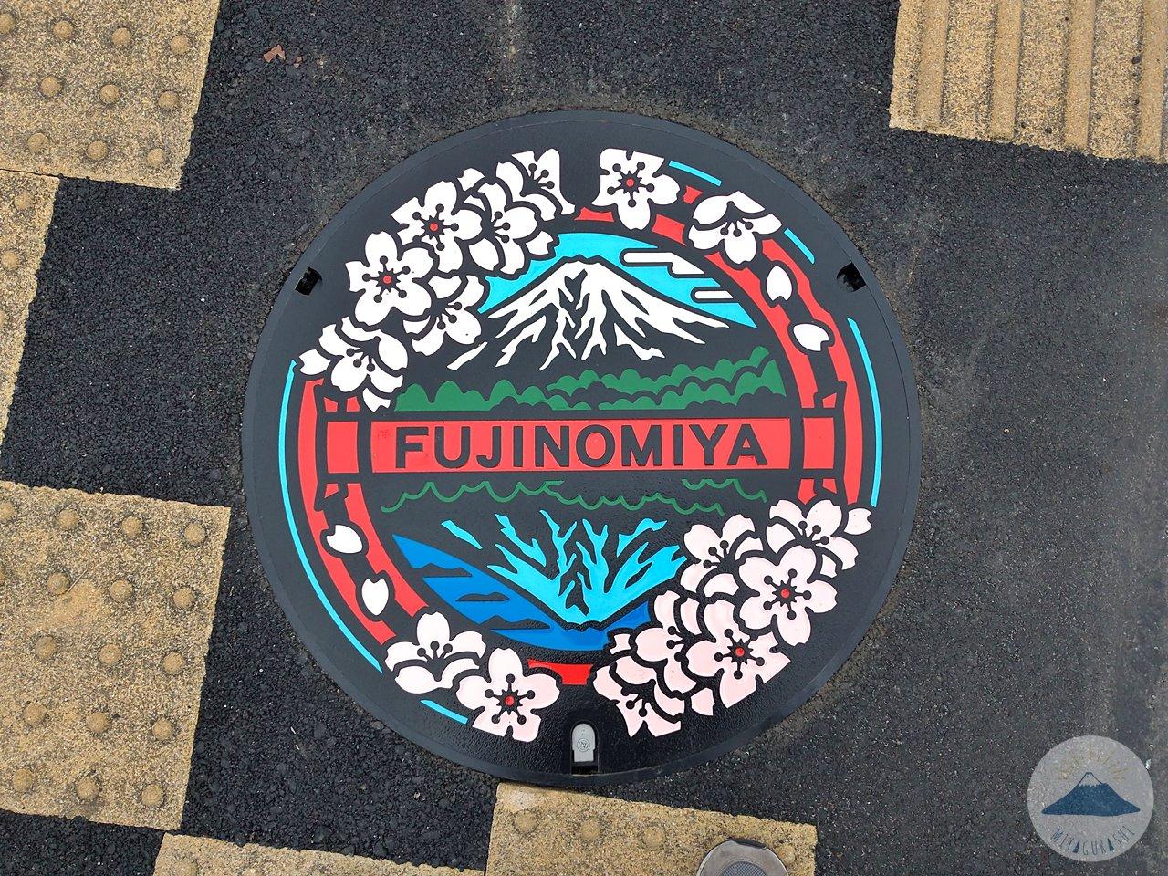 富士宮市ご当地マンホール蓋