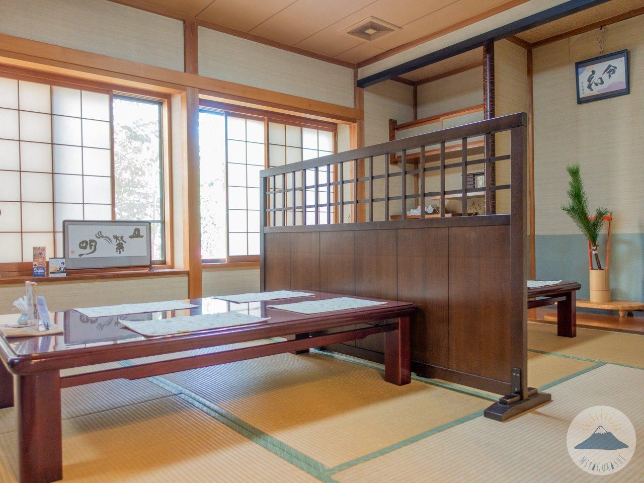 萩の亭の和室