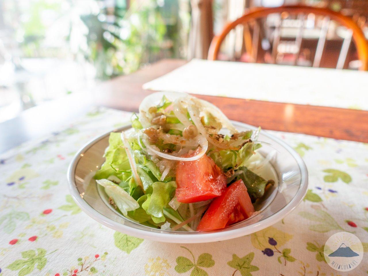 萩の亭の季節のサラダ