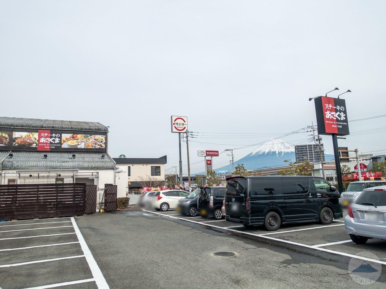 ステーキのあさくま富士店の駐車場