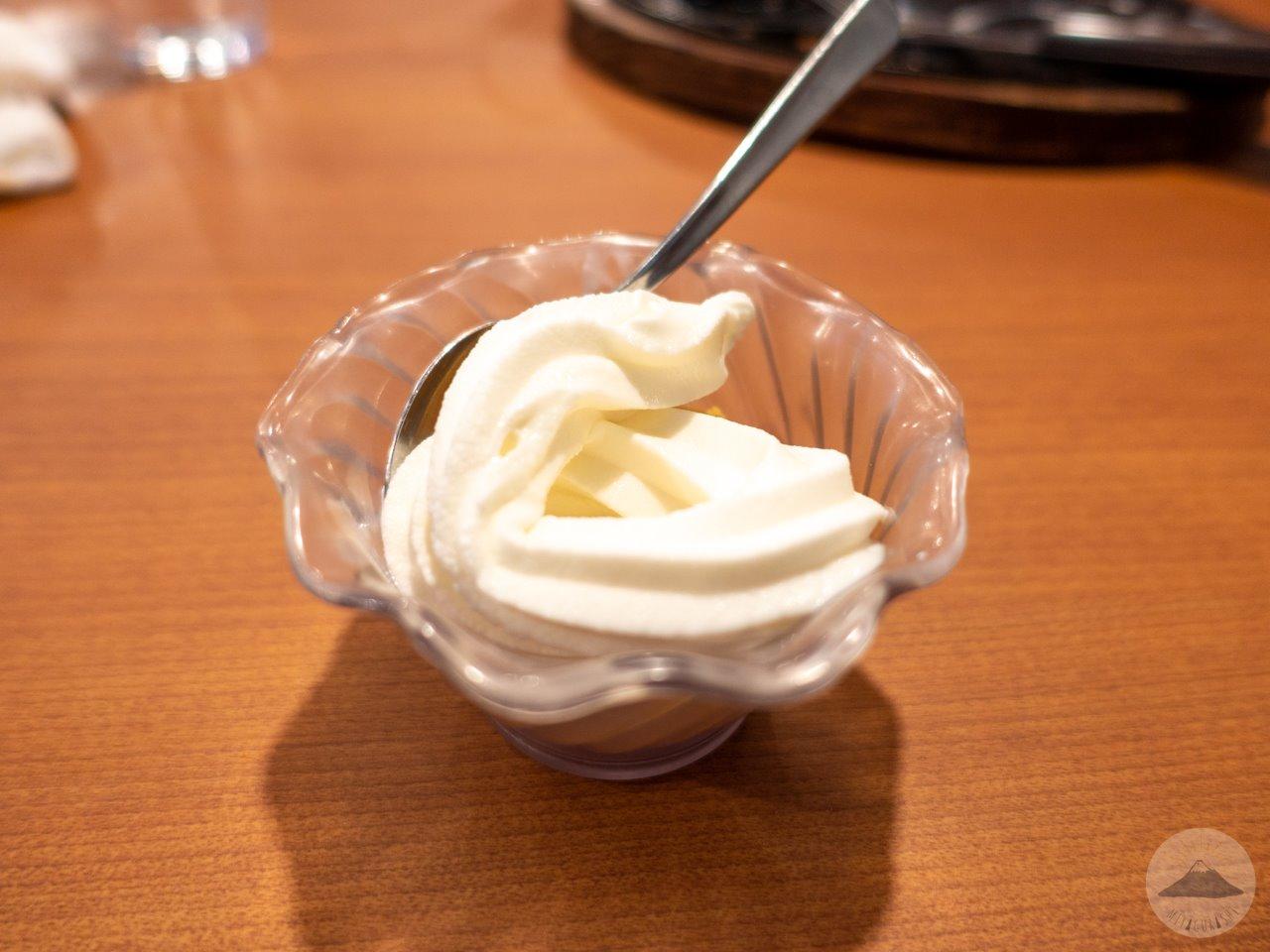 ステーキのあさくま富士店のソフトクリーム