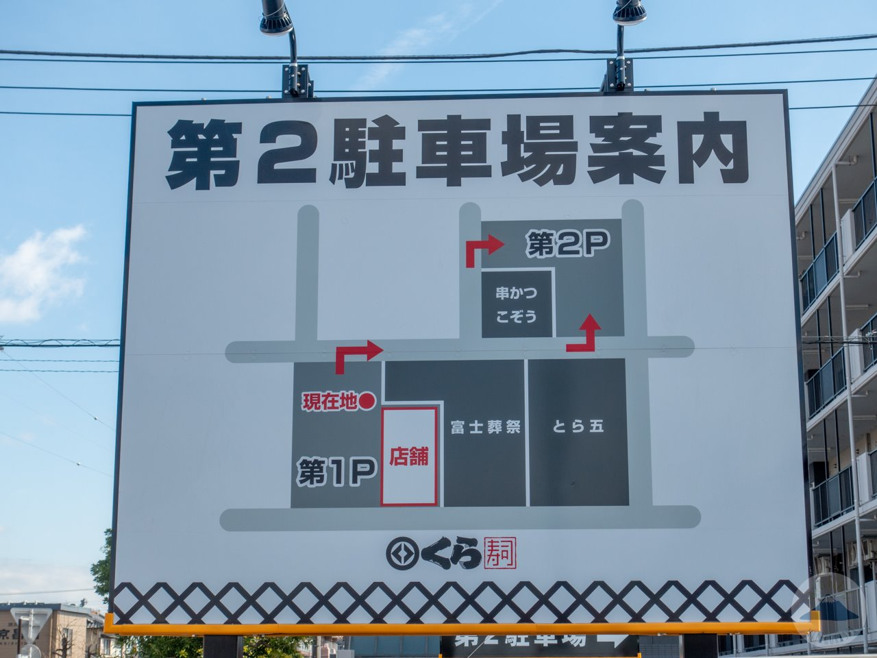 くら寿司富士店の駐車場案内
