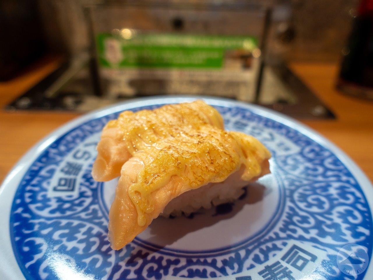 くら寿司富士店のあぶりチーズサーモン