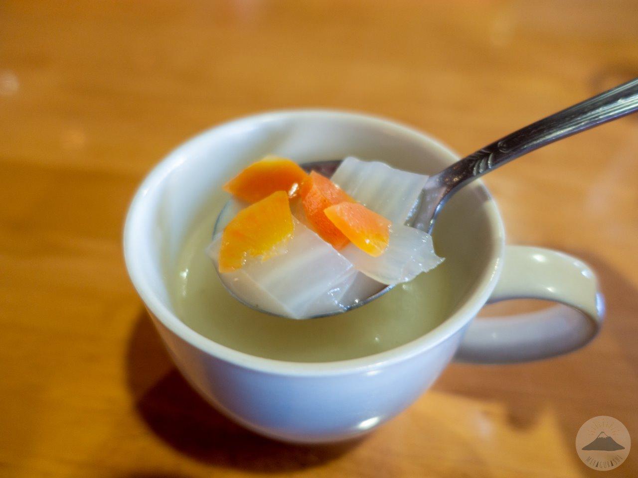 王様のカレー宮原店のスープ