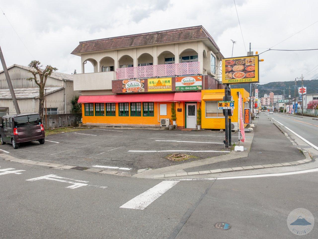 サンデース富士宮店の駐車場