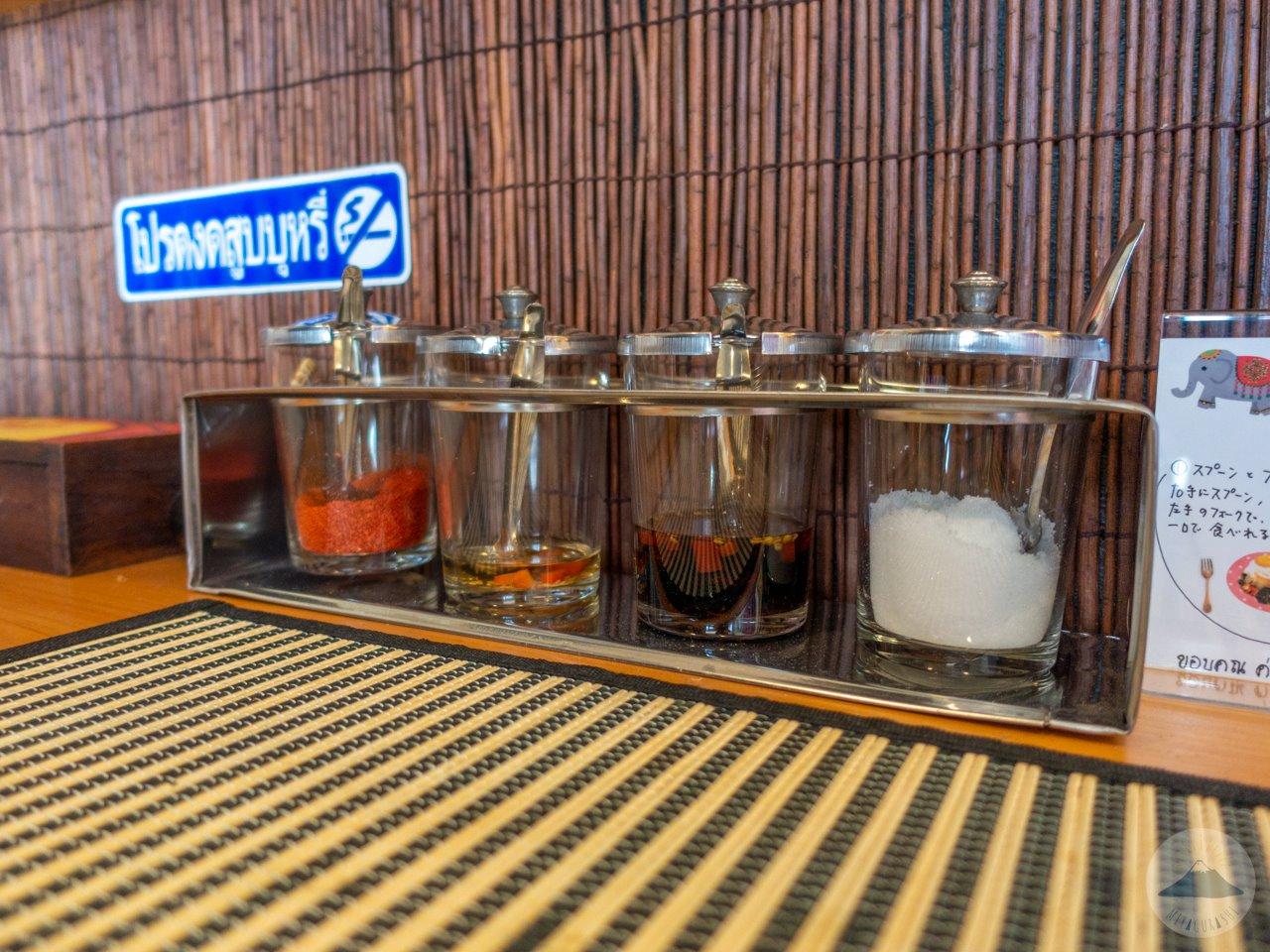 タイ屋台料理ユキズキッチンの調味料